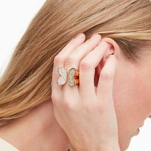 Kate Spade In a flutter cubic zirconia ring NWT 8